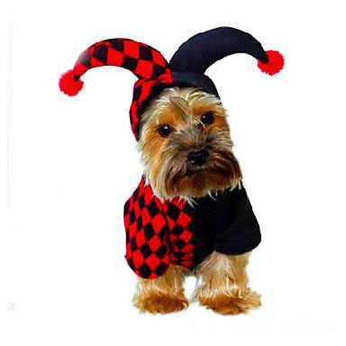 Hond kostuums Hondenkleding Halloween Kerstmis Geometrisch Zwart Kostuum Voor huisdieren