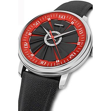 Herrn Einzigartige kreative Uhr Kleideruhr Modeuhr Sportuhr Armbanduhren für den Alltag Chinesisch Quartz Wasserdicht Echtes Leder Band
