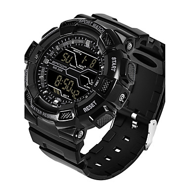 Herrn Sportuhr Militäruhr Smart Watch Modeuhr Armbanduhr digital Kalender LED Fitness Tracker Stopuhr Nachts leuchtend Silikon Band