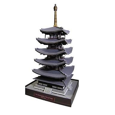 3D-puzzels Bouwplaat Modelbouwsets Papierkunst Speeltjes Toren Beroemd gebouw Architectuur 3D DHZ Unisex Stuks