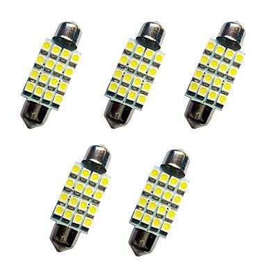 5 قطع سيارة اكليل قبة مصباح 39 ملليمتر 1.5 واط 16smd 3528 رقاقة 80-100lm الأبيض 6500-7000 كيلو dc12v القراءة ضوء لوحة ترخيص أضواء