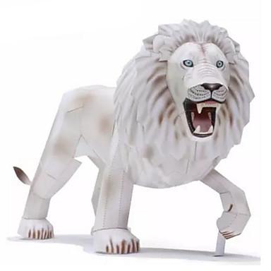 قطع تركيب3D نموذج الورق أشغال الورق مجموعات البناء مربع أسد 3D الحيوانات اصنع بنفسك ورق صلب كلاسيكي للجنسين هدية