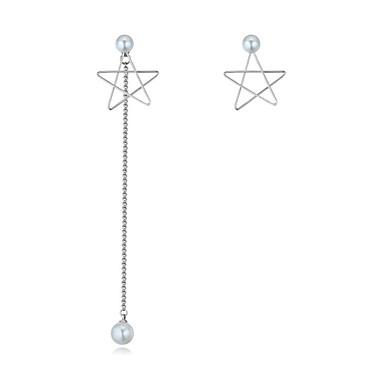 Pentru femei Nepotrivirea Αστέρι Imitație de Perle Cercei Stud - Nepotrivirea / Euramerican / Modă Argintiu cercei Pentru Petrecere / Zi