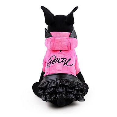 Hond Jurken Hondenkleding Prinses Geel Fuchsia Katoen Kostuum Voor huisdieren Heren Dames Casual / Dagelijks