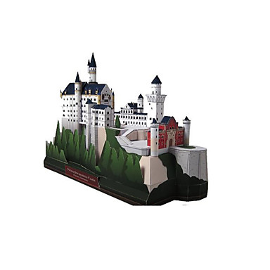 3D-puzzels Bouwplaat Papierkunst Modelbouwsets Zwaan Kasteel Beroemd gebouw Architectuur 3D DHZ Klassiek Unisex Geschenk