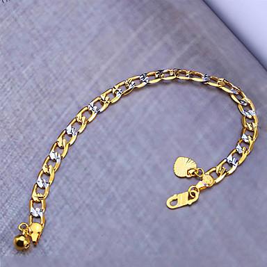 للمرأة للرجال أساور السلسلة والوصلة موضة نمط بوهيميا أسلوب بانك هيب هوب تصفيح بطلاء الفضة مطلية بالذهب Geometric Shape مجوهرات من أجلحزب