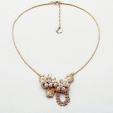 Dames Hangertjes ketting Imitatie Parel Bergkristal Ronde vorm Bloemvorm Legering Liefde Sexy Modieus Luxe Sieraden Sieraden Voor