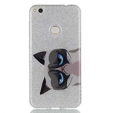 Für Hüllen Cover IMD Rückseitenabdeckung Hülle Katze Tier Glänzender Schein Hart TPU für HuaweiHuawei P9 Huawei P9 Lite Huawei P8 Lite
