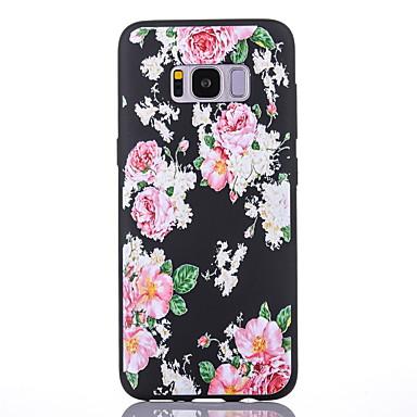 Hülle Für Samsung Galaxy S8 Plus S8 Mattiert Muster Rückseitenabdeckung Blume Weich TPU für S8 S8 Plus