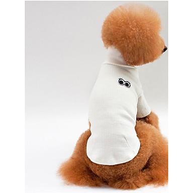 Câine Tricou Îmbrăcăminte Câini Mată Alb Gri Rosu Roz Bumbac Costume Pentru animale de companie Bărbați Pentru femei Casul/Zilnic