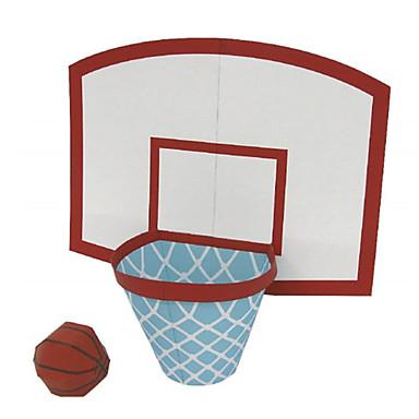 قطع تركيب3D كرات نموذج الورق ألعاب كرة السلة أشغال الورق مجموعات البناء كرة السلة 3D اصنع بنفسك كلاسيكي للجنسين هدية