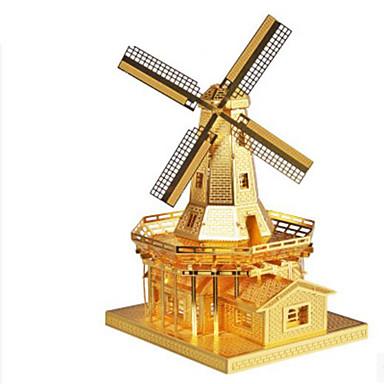3D-puzzels Legpuzzel Metalen puzzels Windmolen Windmolen Architectuur 3D DHZ Aluminium Metaal Klassiek Unisex Geschenk