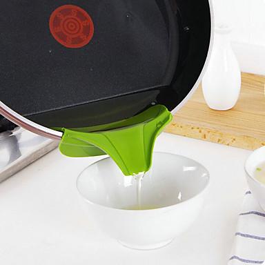 силиконовая воронка залить сливом проскальзывание на сток утечки кухонный горшок круглый инструмент дефлектора кухонные инструменты