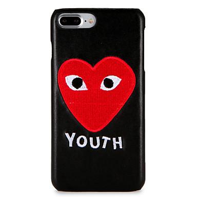 Caz pentru Apple iphone 7 plus / 7 acoperire back cover case cuvânt / frază inima greu pc iphone 6s plus / 6 plus / 6s / 6