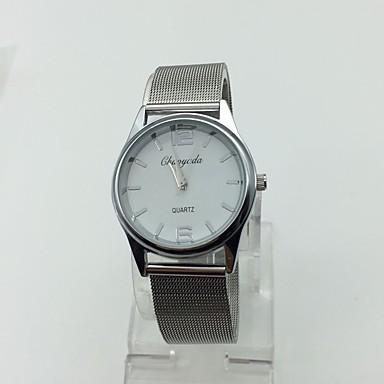 Heren Dress horloge Polshorloge Kwarts Metaal Band Vintage Zilver