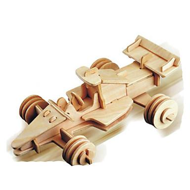 قطع تركيب3D تركيب معدني النماذج الخشبية مجموعات البناء سيارة اصنع بنفسك الخشب الطبيعي كلاسيكي 6 سنوات فما فوق