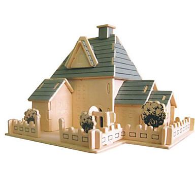 3D-puzzels Legpuzzel Modelbouwsets Beroemd gebouw Architectuur 3D DHZ Natuurlijk Hout Klassiek Unisex Geschenk
