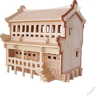 قطع تركيب3D تركيب مجموعات البناء بناء مشهور معمارية 3D اصنع بنفسك الخشب الطبيعي كلاسيكي للأطفال للجنسين هدية