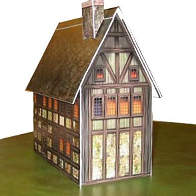 Puzzle 3D Modelul de hârtie Μοντέλα και κιτ δόμησης Lucru Manual Din Hârtie Jucarii Pătrat Casă 3D Reparații Hârtie Rigidă pentru