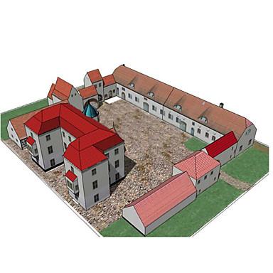Puzzle 3D Modelul de hârtie Lucru Manual Din Hârtie Μοντέλα και κιτ δόμησης Clădire celebru Casă Arhitectură 3D Reparații Hârtie Rigidă