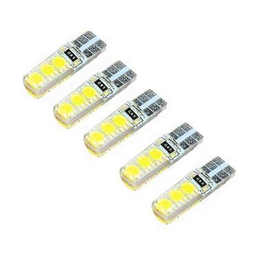 2w dc12v alb t10 smd5050 lampă decorativă cu 6 cadre de citire lumină placă de înmatriculare lumină ușă lampă 5pcs