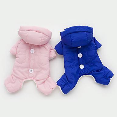 Hund Overall Hundekleidung Warm Atmungsaktiv Lässig/Alltäglich Solide Orange Gelb Blau Rosa Kostüm Für Haustiere