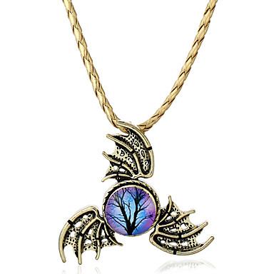 Dames Hangertjes ketting Synthetische Opaal Wings Legering Gepersonaliseerde Vintage Euramerican Sieraden Voor Causaal Outdoorkleding