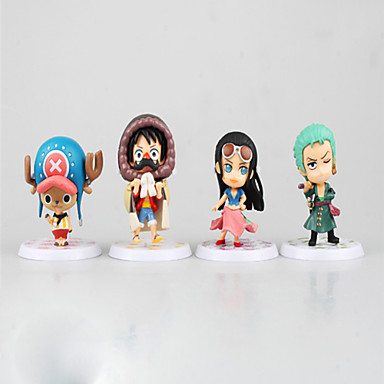 عمل أرقام أنيمي مستوحاة من One Piece Monkey D. Luffy PVC 7 CM ألعاب تركيب دمية لعبة للجنسين