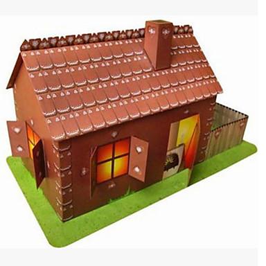 Puzzle 3D Lucru Manual Din Hârtie Jucarii Pătrat Casă 3D Reparații Hârtie Rigidă pentru Felicitări Unisex Bucăți