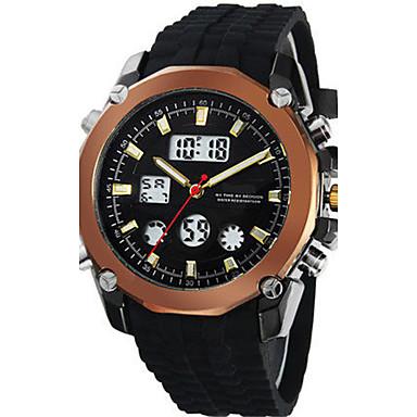 Heren Modieus horloge Digitaal Rubber Band Zwart Bruin