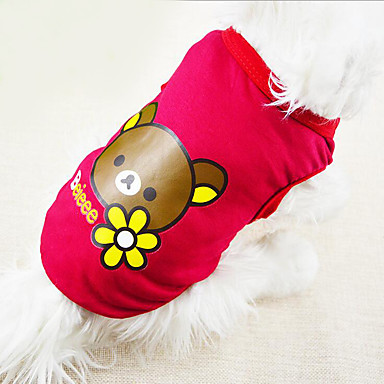 Hond Gilet Hondenkleding Casual/Dagelijks Beer Geel Fuchsia Rood Blauw Kostuum Voor huisdieren