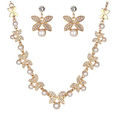 Dames Druppel oorbellen Ketting Bergkristal Meetkundig Kerstcadeaus Bikini Kunstdiamanten Bladvorm Geometrische vorm