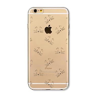 Hülle Für Apple iPhone X iPhone 8 Plus Transparent Muster Rückseite Katze Cartoon Design Weich TPU für iPhone X iPhone 8 Plus iPhone 8