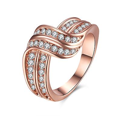 Dames Ring Kristal Zirkonia Gepersonaliseerde Luxe Cirkelvormig ontwerp Meetkundig Uniek ontwerp Tatoeagestijl Klassiek Vintage
