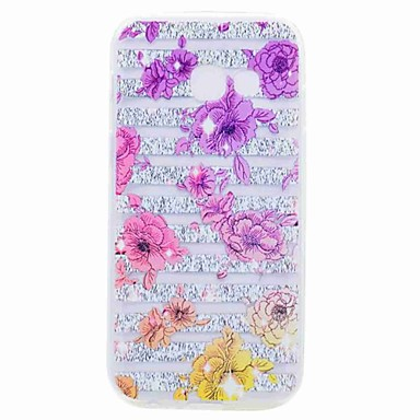 hoesje Voor Samsung Galaxy A5(2017) A3(2017) Transparant Patroon Achterkant Bloem Zacht TPU voor A3 (2017) A5 (2017) A7 (2017) A5(2016)