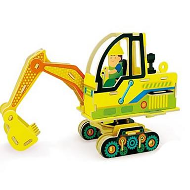 Jucării pentru mașini Puzzle 3D Puzzle Modelul lemnului Vehicul de Construcție Jucarii Camion 3D Reparații Lemn Ne Specificat Bucăți