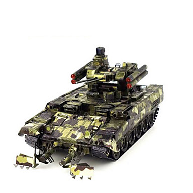 Jucării pentru mașini Puzzle 3D Puzzle Puzzle Metal Vehicul de Construcție Jucarii Rezervor Reparații Crom MetalPistol Ne Specificat