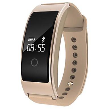 זול שעוני גברים-בגדי ריקוד גברים שעון חכם שעוני אופנה דיגיטלי סיליקוןריצה להקה שחור לבן זהב