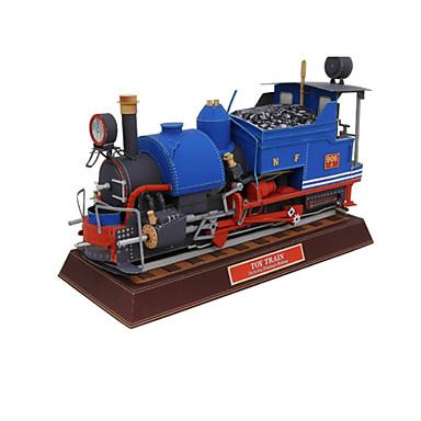 Puzzle 3D Lucru Manual Din Hârtie Tren Simulare Articole de mobilier Reparații Hârtie Rigidă pentru Felicitări Clasic Tren Pentru copii