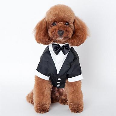 كلب ملابس السهرة للرجال ملابس الكلاب سادة البوليستر كوستيوم للحيوانات الأليفة للرجال للمرأة الزفاف
