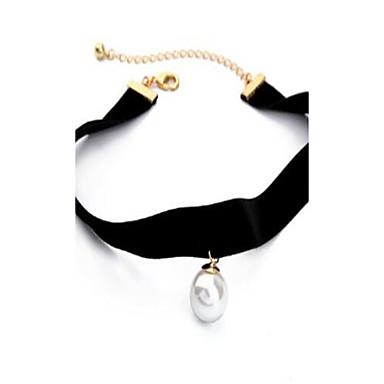 Damen Halsketten Imitierte Perlen Aleación Personalisiert Modisch Hip-Hop Rock Schmuck Für Alltag Normal Bühne Festtage Ausgehen