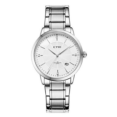 Heren Modieus horloge Kwarts Roestvrij staal Band Zilver