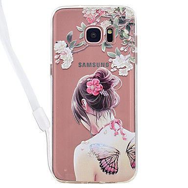 hoesje Voor Samsung Galaxy S8 Plus S8 Transparant Patroon Achterkantje Transparant Sexy dame Cartoon Hard Acryl voor S8 S8 Plus S7 edge