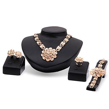 Dames Sieraden Set Bergkristal Gepersonaliseerde Luxe Vintage Euramerican Opvallende sieraden Modieus Feest Speciale gelegenheden