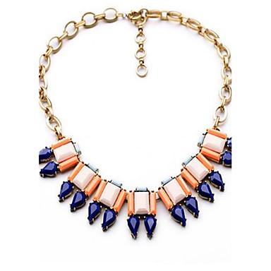 Pentru femei Coliere cu Pandativ Sapphire sintetic Square Shape Geometric Shape Picătură Aliaj Personalizat Lux Boem Modă Bijuterii Pentru