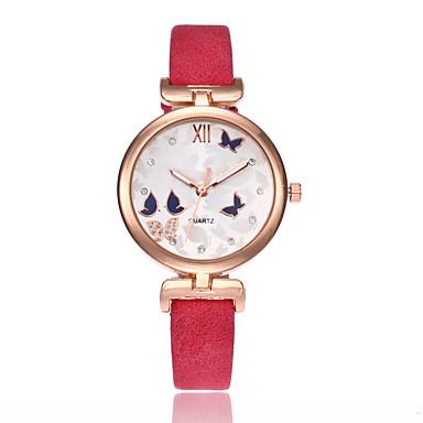 Dames Unieke creatieve horloge Armbandhorloge Modieus horloge Sporthorloge Vrijetijdshorloge Chinees Kwarts Waterbestendig Leer Band