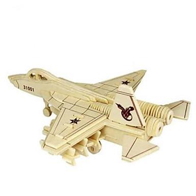 3D - Puzzle Holzpuzzle Holzmodell Modellbausätze Spielzeuge Flugzeug Kämpfer 3D Heimwerken Simulation Holz Naturholz keine Angaben Stücke
