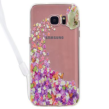 غطاء من أجل Samsung Galaxy S8 Plus S8 شفاف نموذج غطاء خلفي فراشة شفاف زهور قاسي أكريليك(Acrylic) إلى S8 S8 Plus S7 edge S7 S6 edge S6 S5