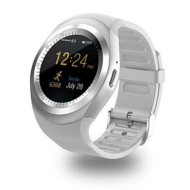 للرجال ساعة رياضية ساعة المعصم صيني رقمي شاشة لمس LCD PU فرقة كاجوال أسود الأبيض أزرق الوردي