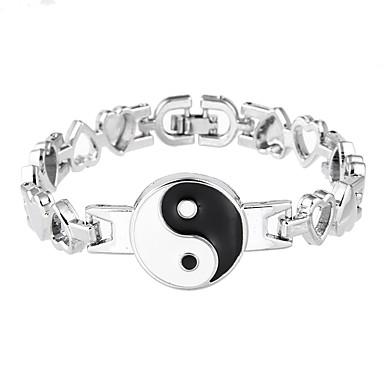 Pentru femei Lux Brățări cu Lanț & Legături - Lux Natură Prietenie Circle Shape Argintiu Brățări Pentru Petrecere Zi de Naștere Party /